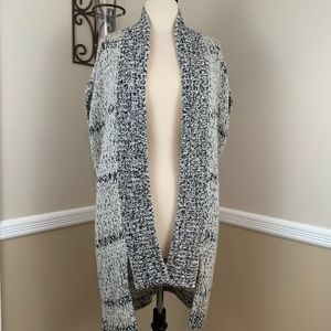 Ecote Drop Shoulder Knit Vest Cardigan Sweater